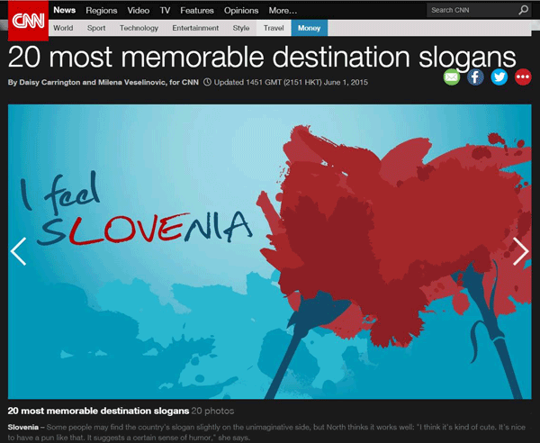 I feel sLOVEnia memorable slogan