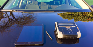 First and only rent a car with tablets